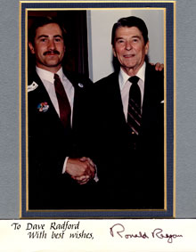 Dave and President Reagan